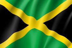 Chorągwiana Jamajka realistyczna ikona Fotografia Stock