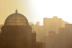 chorągwiana miasto linia horyzontu Zdjęcia Royalty Free