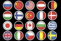 Chorągwiane ikony Zdjęcia Royalty Free