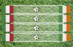 chorągwianego futbolu plastelina Zdjęcie Royalty Free