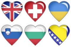 Chorągwiani serca Fotografia Stock