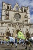 Chorągwiani tancerze i Jean katedra Obrazy Royalty Free