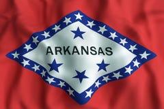chorągwiany Arkansas stan ilustracji