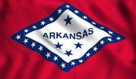 Chorągwiany Arkansas stanu stanu usa symbol royalty ilustracja