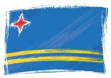 chorągwiany Aruba grunge royalty ilustracja