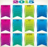 Chorągwiany Calendar-2015 Zdjęcie Stock