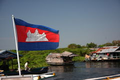 chorągwiany Cambodia królestwo Zdjęcia Stock