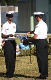 chorągwiany ceremonii falcowanie Zdjęcie Royalty Free