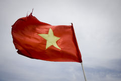 chorągwiany czerwony Vietnam Zdjęcia Royalty Free