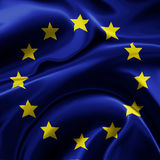 chorągwiany Europejczyka zjednoczenie Obraz Stock