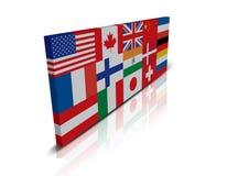 chorągwiany globalny Zdjęcia Stock