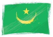 chorągwiany grunge Mauritania Zdjęcie Stock