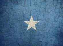 chorągwiany grunge Somalia Obrazy Stock
