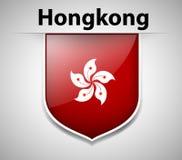 Chorągwiany ikona projekt dla Hongkong Zdjęcia Stock