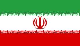 chorągwiany Iran Fotografia Stock