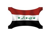 chorągwiany Iraq Obrazy Stock