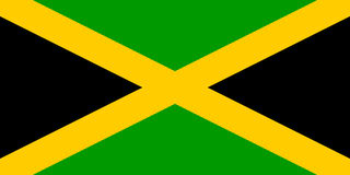 chorągwiany Jamaica Fotografia Royalty Free