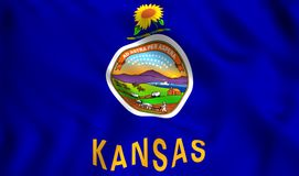 Chorągwiany Kansas stanu stanu usa symbol royalty ilustracja