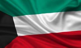 chorągwiany Kuwait Obrazy Royalty Free