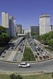 Chorągwiany kwadrat Brazylia - São Paulo - Obraz Stock