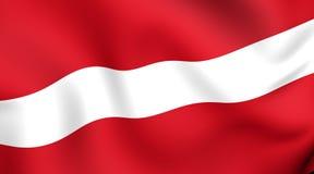 chorągwiany Latvia Zdjęcia Stock