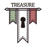 Chorągwiany logotyp Zdjęcia Stock