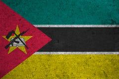 Chorągwiany Mozambik Zdjęcie Stock