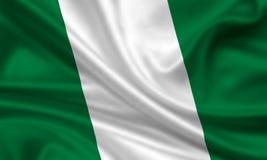 chorągwiany Nigeria Zdjęcia Stock