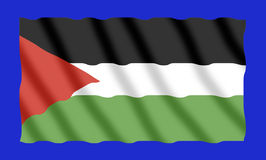 chorągwiany Palestine Fotografia Stock
