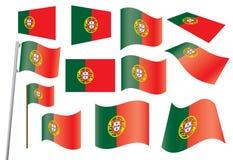 chorągwiany Portugal Zdjęcia Royalty Free