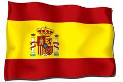 chorągwiany Spain Zdjęcie Royalty Free