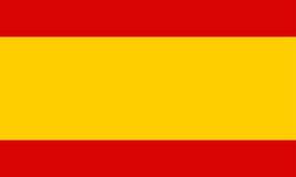 chorągwiany Spain royalty ilustracja