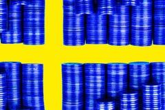Chorągwiany Szwecja Obraz Royalty Free