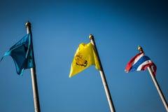 chorągwiany Thailand zdjęcia stock