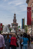 Chorągwiany Turcja Zdjęcia Royalty Free