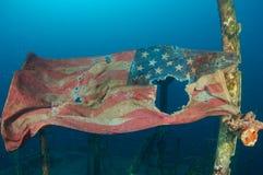 chorągwiany underwater Zdjęcie Royalty Free