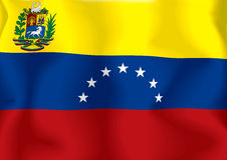 chorągwiany Venezuela Zdjęcie Stock