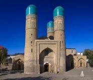Chor Minder belangrijke Madrasah, Boukhara, Oezbekistan Stock Afbeeldingen