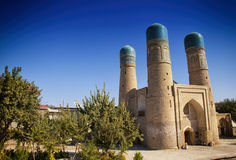 Chor-minder belangrijke Madrassah, Boukhara oezbekistan Stock Fotografie