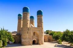 Chor-minder belangrijke Madrassah, Boukhara, Oezbekistan Unesco-Werelderfenis royalty-vrije stock afbeelding