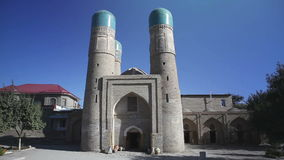 Chor Minor Char Minar, Chor minor is a historic mosque in the historic city of Bukhara, Uzbekistan. stock video footage