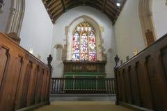 Chor und Altar der historischen Kirche Stockbild