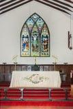 Chor und Altar der vereinigenden Kirche in Australien, Albanien Lizenzfreie Stockbilder