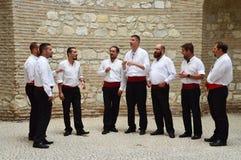 Chor von traditionellen dalmatinischen Sängern Lizenzfreie Stockfotos