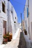 Chora村庄传统建筑学在Kythera海岛, Gre上的 免版税库存照片