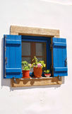 Chora村庄传统建筑学在Kythera海岛, Gre上的 库存图片