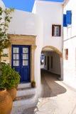 Chora村庄传统建筑学在Kythera海岛, Gre上的 免版税库存图片