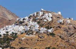 Chora村庄,塞里福斯岛海岛,基克拉泽斯,希腊 免版税库存图片
