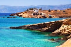 Chora на острове Pano Koufonisi Стоковые Изображения