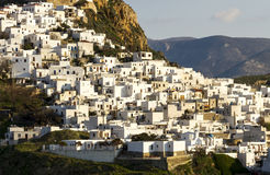 Chora (资本)斯基罗斯岛海岛,北爱琴海,希腊 免版税图库摄影